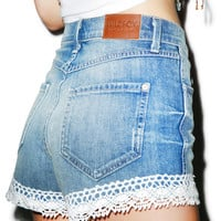 Wildfox Couture Shabby Lace Shorts Hand Me Down