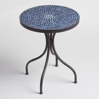 Round Coral Cadiz Outdoor Accent Table