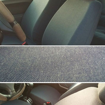 Car seat covers made of durable stretch jeans, for adult car seat (pair of covers, for front seats). Only 2 items left.