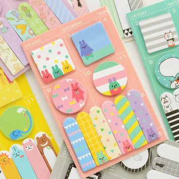 New Arrival Animals Party Memo Pad N Times Sticky Notes Memo Notepad Bookmark Gift Stationery