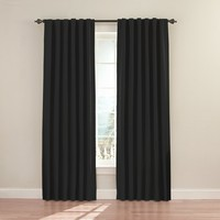 Eclipse Fresno 52 by 84-Inch Blackout Window Curtain (Single Panel), Black