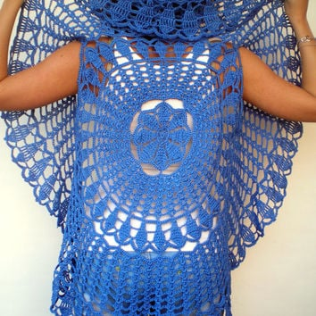 Free Crochet Ladies Circle Vest Or Shrug Pattern : Best Cotton Crochet Shrug Products on Wanelo