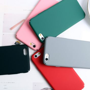 Fashion Anti-skid Colorful Phone Case Cover for Apple iPhone 7 7 Plus 5S 5 SE 6 6S 6 Plus 6S Plus + Nice gift box! LJ161101-007