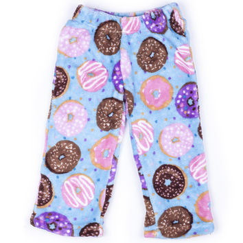 Up Past 8 Donut Fleece Pajama Pants
