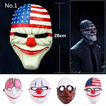 PVC Scary Clown Halloween Mask