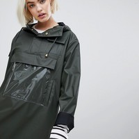 Rains High Shine Camp Anorak at asos.com