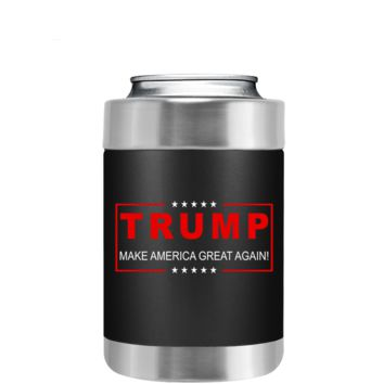 Trump Make America Great Again on Black Can and Bottle Cooler