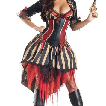 Half Sleeve Pirate Costume Set