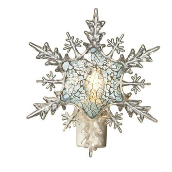 Snowflake Christmas Night Light - Swivel Pug Fits Into Any Outlet Orientation