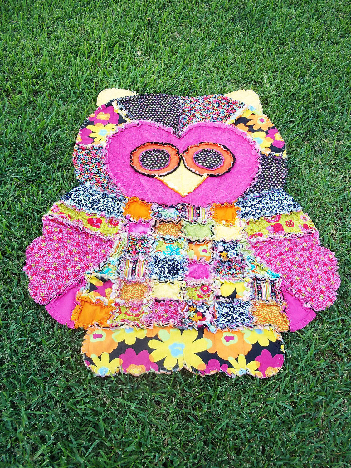 Living Room Designer App Groovy Hoot The Owl Rag Quilt By From Yourpicturefixer On Etsy