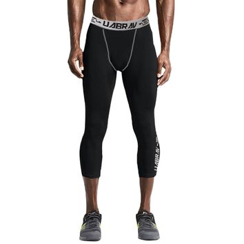 Men Sports Wear Tights Compression Pants Running Basketball Leggings Gym Yoga Jogging Clothing Quick Drying Skinny Sportswear