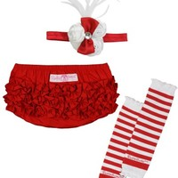 RuffleButts.com - Red & White Holiday 3-Piece Set