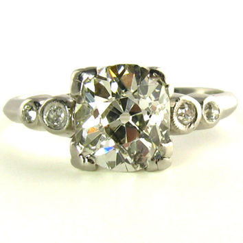 2.30 Carat Diamond Ring in Platinum, Appraised $18,500