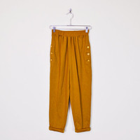 Vintage 80s 90s Mustard Yellow Harem Pant Slouchy Pant High Waist Pant Skinny Pant Skinny Leg Pant Taper Leg Trouser 80s Pant Women S Small