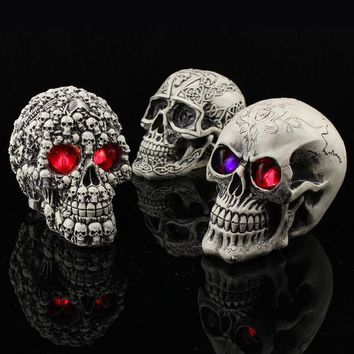 Halloween Decoration Novel Originality Toys Funny Evil Do Persecute Others Prop Resin Human Skeleton Head480 G Party Decoratio