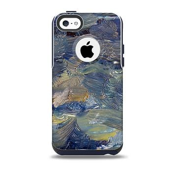 The Blue & Yellow Abstract Oil Painting Skin for the iPhone 5c OtterBox Commuter Case