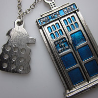 TARDIS and Dalek Necklace Doctor Who Inspired by lovespelljewels