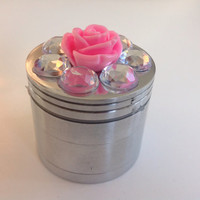 Rose Jeweled Mini Herb Grinder