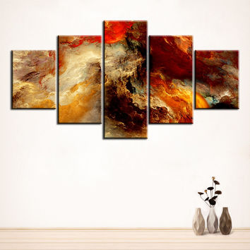 5 pc Set galaxy  abstract cloud NO FRAME Oil Painting Canvas Prints Wall Art Pictures For Living Room Decorations