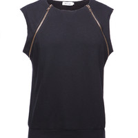 Punk Raw Edge Sleeveless Top