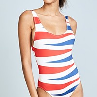The Anne Marie Backgammon One Piece Swimsuit