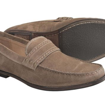 JOHN VARVATOS Madison Stud Keeper Sandstone Loafers