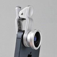 Iphone5 4s Cell Phone Camera , Fisheye +Wide Angle + Macro (black)