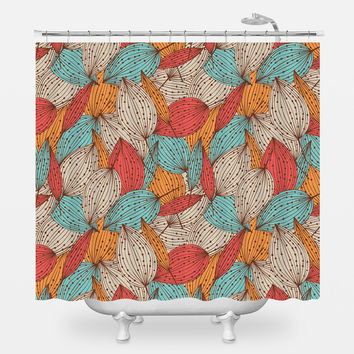Colorful Autumn Shower Curtain