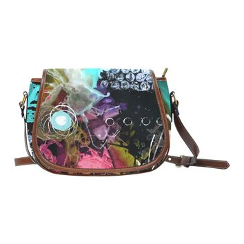 In Search Of - Leather Saddle Bag Purse by Destiny Womack Saddle Bag