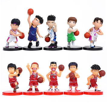 Anime Slam Dunk PVC Action Figures Dolls Boys Toys Doll Birthday Christmas Gifts 10pcs/set SDFG008
