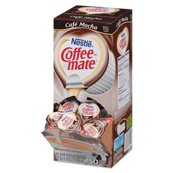 Liquid Coffee Creamer, Cafe Mocha, 0.375 Oz Cups, 50/box, 4 Box/carton