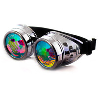 Chrome Kaleidoscope Goggles for Raves