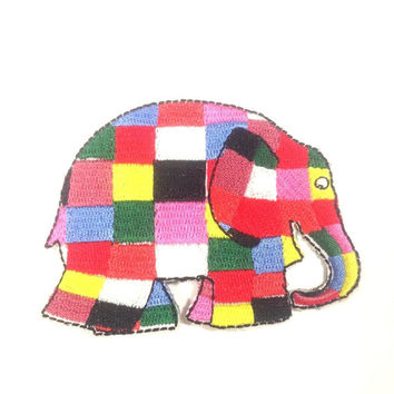 Elmer THE Elephant Disney Iron ON Patch Embroidered Applique Embellishment R8