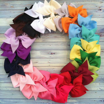 20 hair bows / 1.00 each / infant / toddler / big girl bows / 3 inch / ONE OF EACH