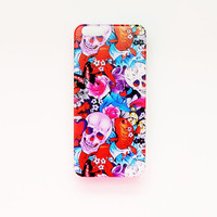 iPhone 6 Case Skull Pattern iPhone 6 Hard Case Day Of The Dead Back Cover Halloween For iPhone 6 Slim Design Case Gothic Punk Rock Skeleton