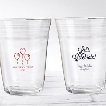 Personalized Party Cup Glass - Birthday