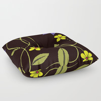 Flowers 2 Floor Pillow by darcyarts