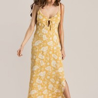 Amanda Yellow Floral Maxi Dress