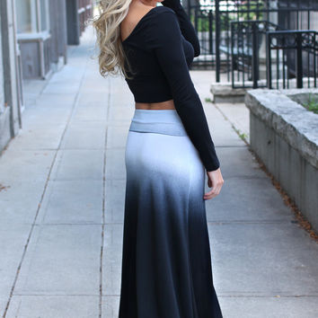 Storm Cloud Maxi Skirt - RESTOCKED