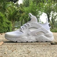 ONETOW Nike Air Huarache 4 Rainbow Ultra Breathe Men Women Hurache White Running Sport Casual Shoes Sneakers - 115