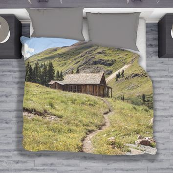 Colorado Rustic Cabin Duvet Cover - Twin, Queen, King