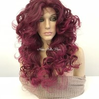 PINK curly lace front wig MULTI PART - GIVE ME LOVE 318 10 ON SALE