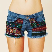 Free People Guipil Rodeo Cutoff Shorts