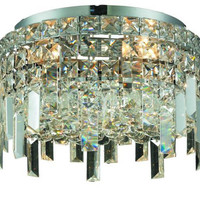 Chantal - Flush Mount (4 Light Contemporary Flush Mount Crystal Chandelier) - 1727F12