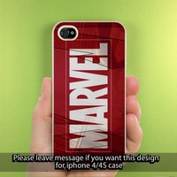 MARVEL SUPER HERO iPhone Case for iPhone 5, iPhone 4/4S Hard Cover Plastic