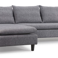 Axiom Sectional Sofa Ash Gray
