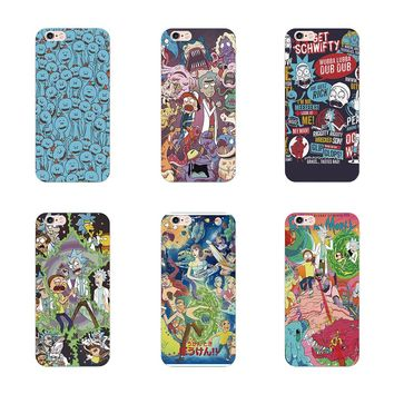 Fatperson cover Rick and Morty Hard plastic cases For iphone 5 5S 4 4S SE 6 6S 7 Plus Samsung Galaxy S8 Plus S6 S5 S4 S3 S7 Edge