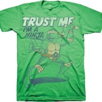 TMNT Teenage Mutant Ninja Turtles Trust Me I'm A Ninja Adult Green T-Shirt - Teenage Mutant Ninja Turtles - | TV Store Online