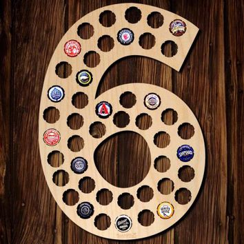 Number Six Beer Cap Map