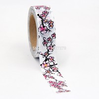 New 1pcs foil washi tapes set for Christmas Print Craft scrapbook DIY Sticky Deco Masking Japanese Washi Tape Paper 10m